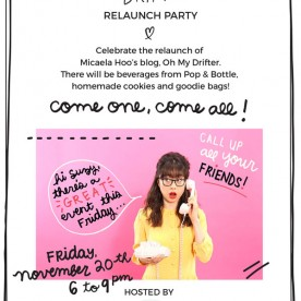 Oh My Drifter Relaunch Party Invite