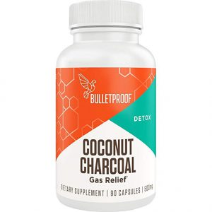 Bulletproof Coconut Charcoal, Supports Better Digestion and Gas Relief